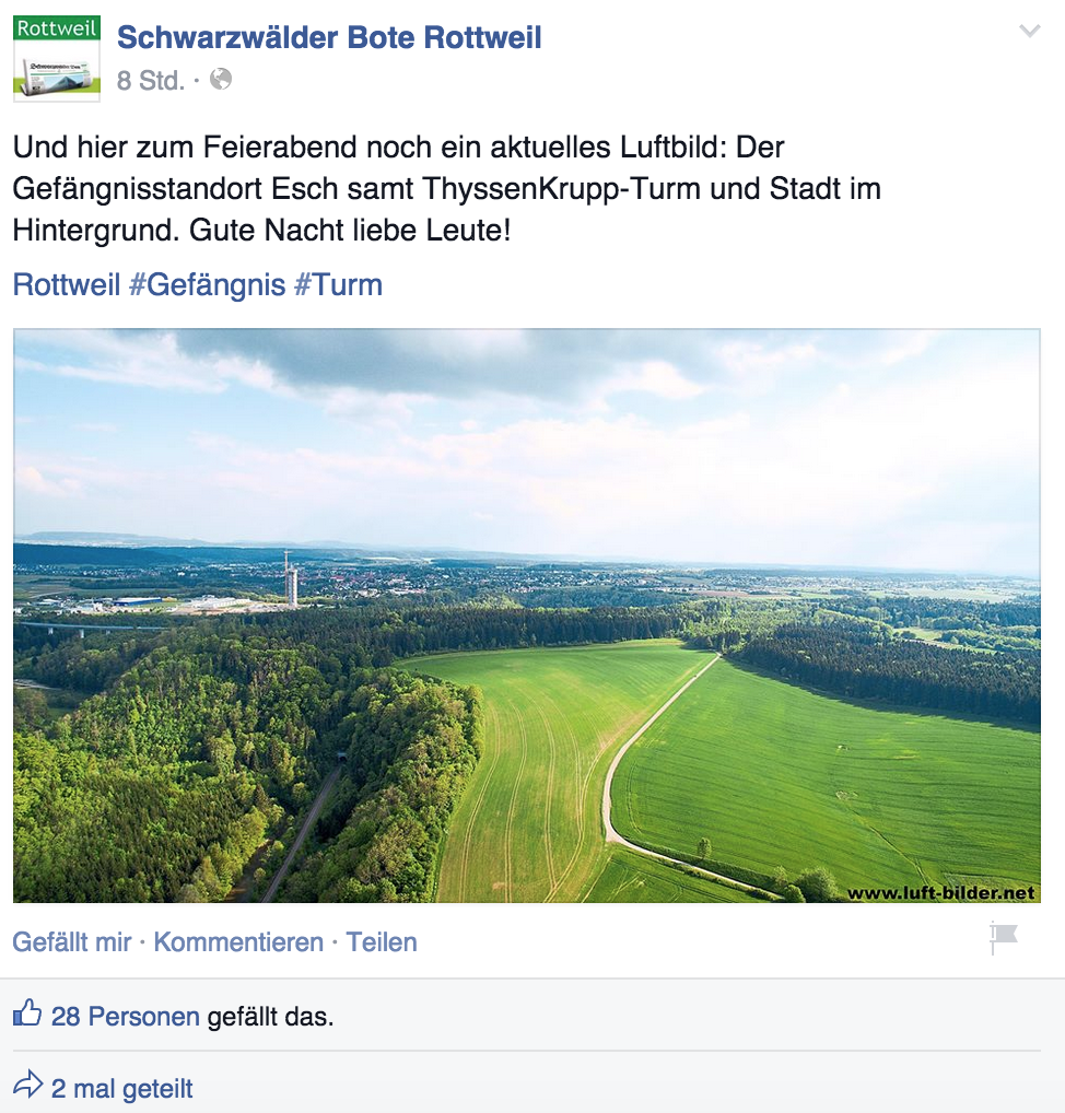 """Schwabo berichtet """"live"""" auf Facebook und lädt so zu Diskussionen ein"""
