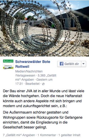 Facebook: Schwabo gibt Gedankenanstoß in eine andere Richtung