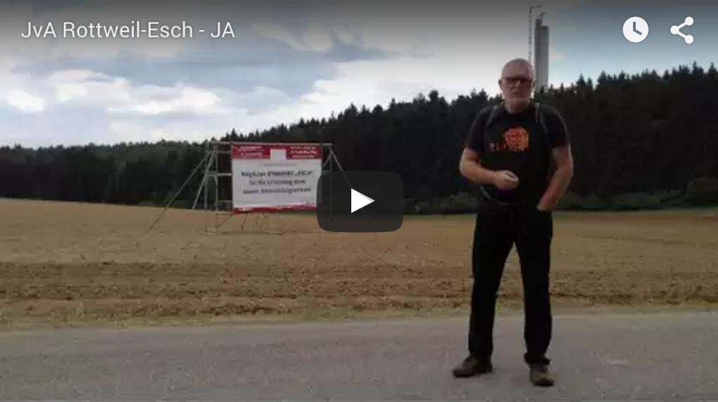 Stadtrat Dieter E. Albrecht in einem Videostatement zum JVA Standort Esch